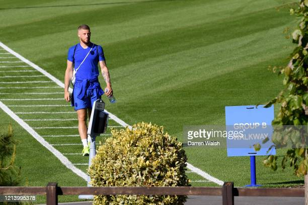 Ross Barkley of Chelsea after a self isolating small group training session at Chelsea Training Ground on May 19 2020 in Cobham England