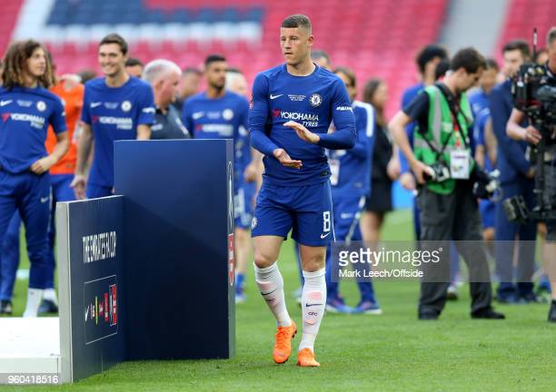 Ross Barkley of Chelsea after the Emirates FA Cup Final between Chelsea and Manchester United at Wembley Stadium on May 19 2018 in London England