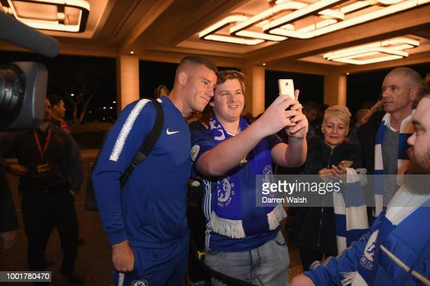 Ross Barkley of Chelsea arrives at the Crown Towers Hotel in Perth on July 19 2018 in Perth Australia