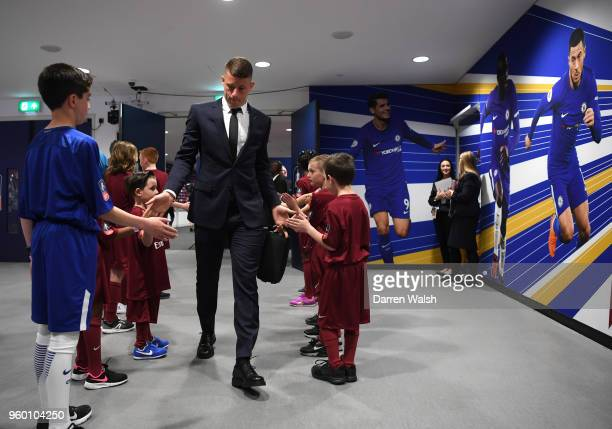 Ross Barkley of Chelsea arrives at the stadium prior to The Emirates FA Cup Final between Chelsea and Manchester United at Wembley Stadium on May 19...