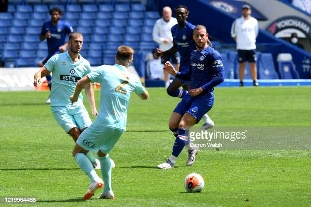 Ross Barkley of Chelsea during a friendly match between Chelsea and Queens Park Rangers at Stamford Bridge on June 14 2020 in London England