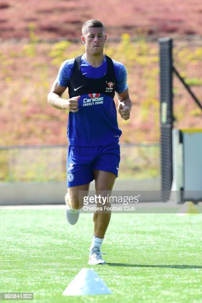 Ross Barkley of Chelsea during a preseason training session at Chelsea Training Ground on July 8 2018 in Cobham England