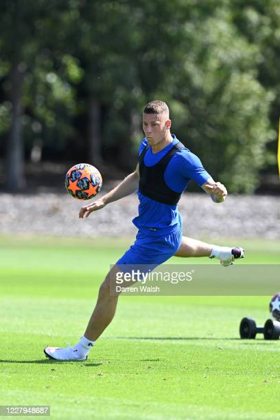 Ross Barkley of Chelsea during a training session at Chelsea Training Ground on August 7 2020 in Cobham England