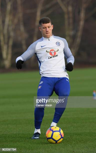 Ross Barkley of Chelsea during a training session at Chelsea Training Ground on January 6 2018 in Cobham England