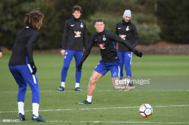 Ross Barkley of Chelsea during a training session at Chelsea Training Ground on January 16 2018 in Cobham England