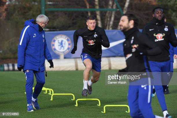 Ross Barkley of Chelsea during a training session at Chelsea Training Ground on January 30 2018 in Cobham England