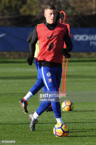 Ross Barkley of Chelsea during a training session at Chelsea Training Ground on February 2 2018 in Cobham England
