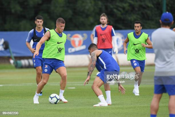 Ross Barkley of Chelsea during a training session at Chelsea Training Ground on July 9 2018 in Cobham England