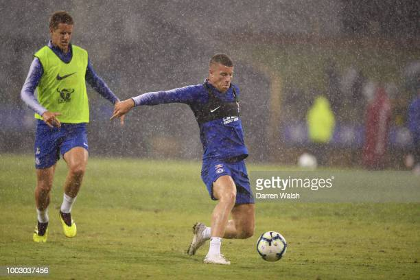 Ross Barkley of Chelsea during an open training session at the Waca on July 21 2018 in Perth Australia