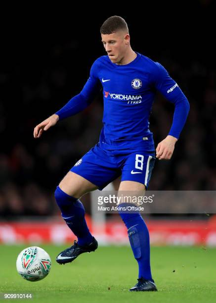 Ross Barkley of Chelsea during the Carabao Cup SemiFinal 2nd leg match between Arsenal and Chelsea at Emirates Stadium on January 24 2018 in London...