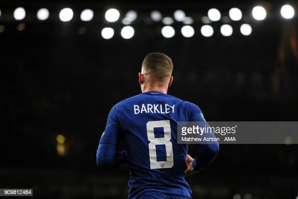 Ross Barkley of Chelsea during the Carabao Cup SemiFinal Second Leg match between Arsenal and Chelsea at The Emirates Stadium on January 24 2018 in...