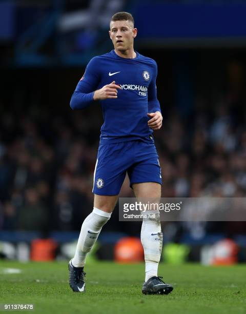 Ross Barkley of Chelsea during the Emirates FA Cup Fourth Round match between Chelsea and Newcastle United on January 28 2018 in London United Kingdom