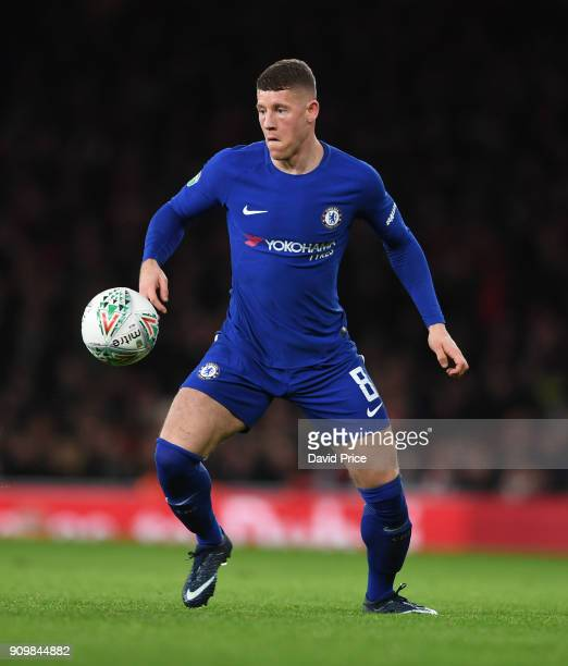 Ross Barkley of Chelsea during the match between Arsenal and Chelsea at Stamford Bridge on January 24 2018 in London England