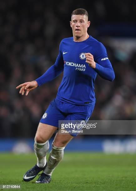 Ross Barkley of Chelsea during the Premier League match between Chelsea and AFC Bournemouth at Stamford Bridge on January 31 2018 in London England