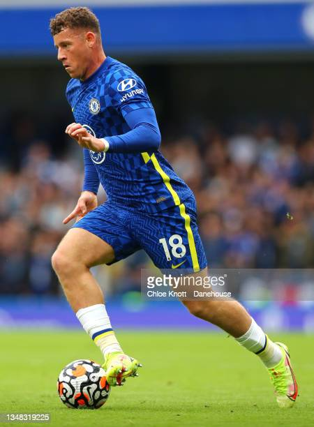 Ross Barkley of Chelsea FC during the Premier League match between Chelsea and Norwich City at Stamford Bridge on October 23, 2021 in London, England.