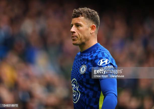 Ross Barkley of Chelsea FC looks on during the Premier League match between Chelsea and Norwich City at Stamford Bridge on October 23, 2021 in...