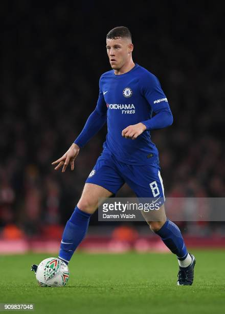 Ross Barkley of Chelsea in action during the Carabao Cup SemiFinal Second Leg at Emirates Stadium on January 24 2018 in London England