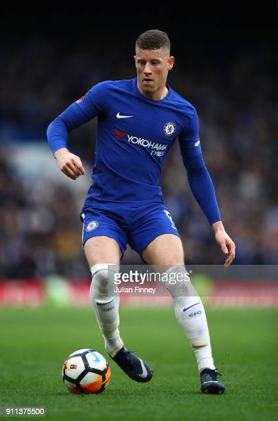 Ross Barkley of Chelsea in action during The Emirates FA Cup Fourth Round match between Chelsea and Newcastle on January 28 2018 in London United...