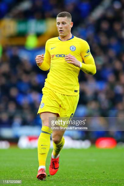 Ross Barkley of Chelsea in action during the Premier League match between Everton FC and Chelsea FC at Goodison Park on March 17 2019 in Liverpool...