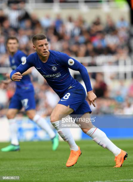 Ross Barkley of Chelsea in action during the Premier League match between Newcastle United and Chelsea at St James Park on May 13 2018 in Newcastle...