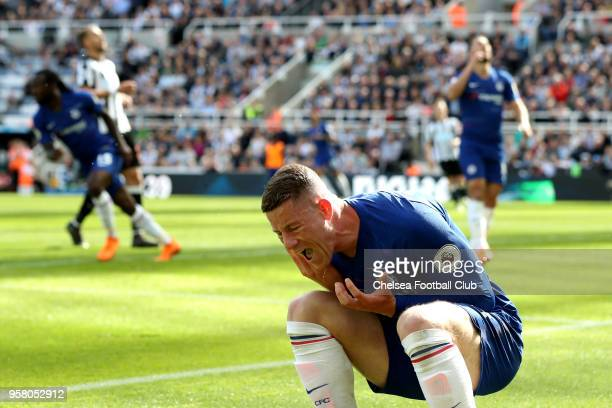 Ross Barkley of Chelsea reacts during the Premier League match between Newcastle United and Chelsea at St James Park on May 13 2018 in Newcastle upon...