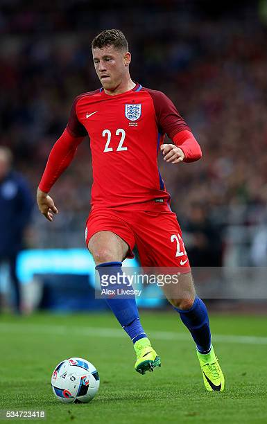 Ross Barkley of England in action during the International Friendly match between England and Australia at Stadium of Light on May 27 2016 in...