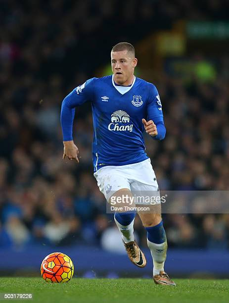 Ross Barkley of Everton during the Barclays Premier League match between Everton and Stoke City at Goodison Park on December 28 2015 in Liverpool...
