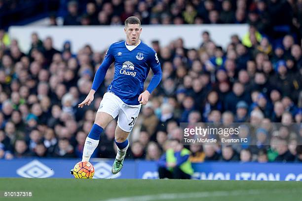 Ross Barkley of Everton during the Barclays Premier League match between Everton and West Bromwich Albion at Goodison Park on February 13 2016 in...