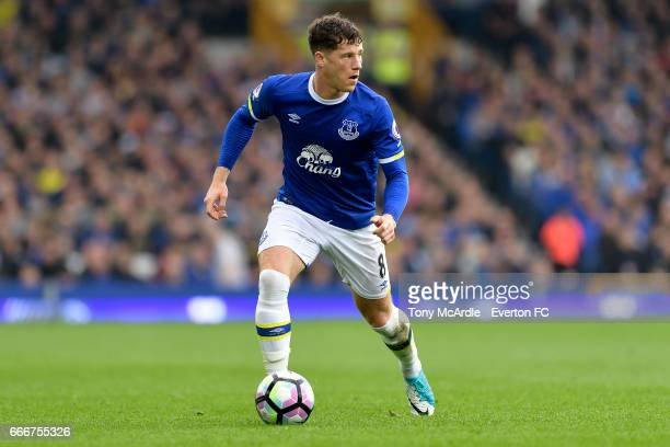 Ross Barkley of Everton during the Premier League match between Everton and Leicester City at Goodison Park on April 9 2017 in Liverpool England