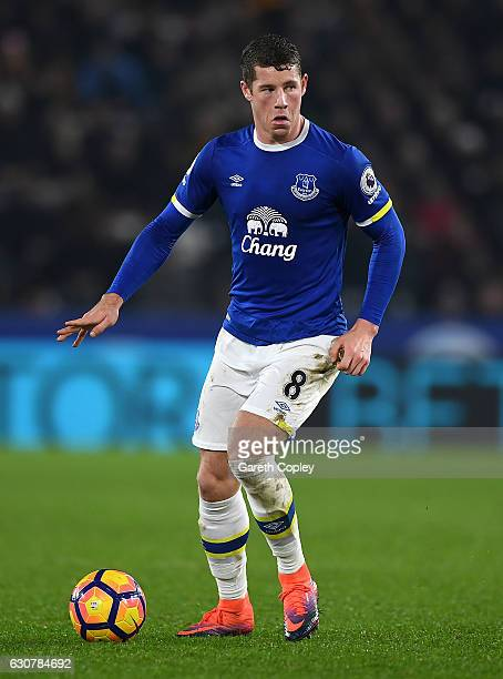 Ross Barkley of Everton during the Premier League match between Hull City and Everton at KC Stadium on December 30 2016 in Hull England