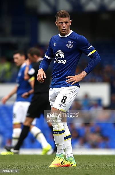 Ross Barkley of Everton in action during the preseason friendly match between Everton and Espanyol at Goodison Park on August 6 2016 in Liverpool...