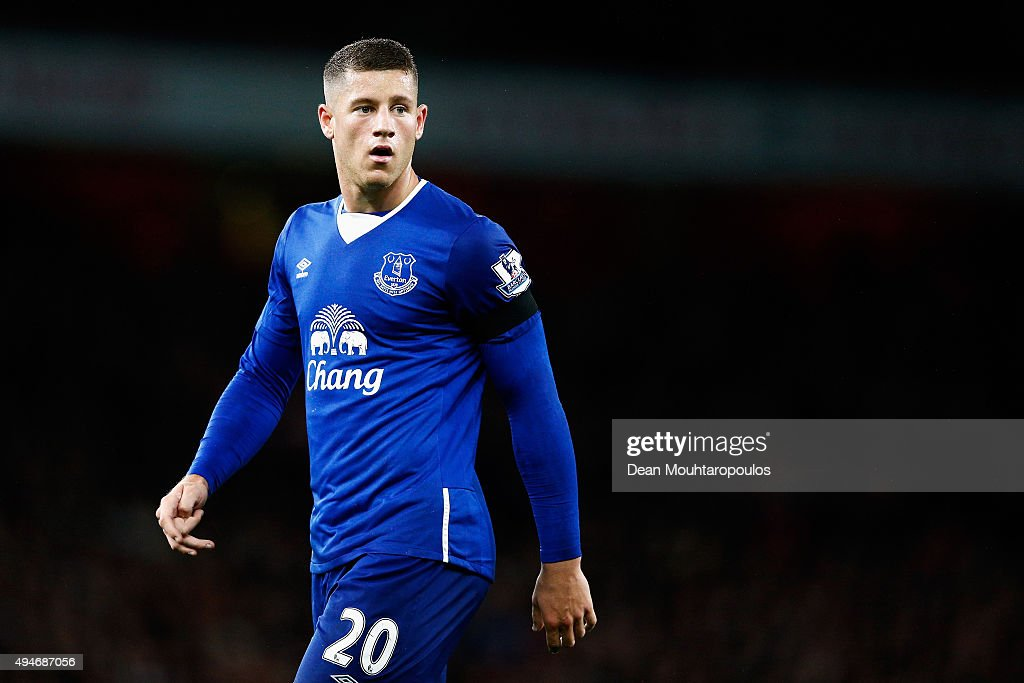 Ross Barkley of Everton looks on during the Barclays Premier League match between Arsenal and Everton at Emirates Stadium on October 24, 2015 in London, England.