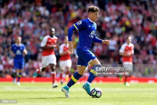 Ross Barkley of Everton on the ball during the Premier League match between Arsenal v Everton at Emirates Stadium on May 21 2017 in London England