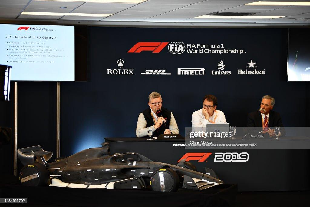 F1 Grand Prix of USA - Previews : News Photo