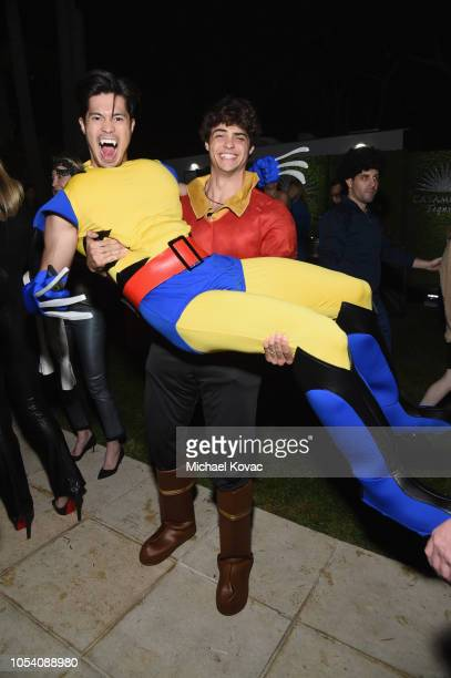 Ross Butler and Noah Centineo attend the Casamigos Halloween Party on October 26 2018 in Beverly Hills California