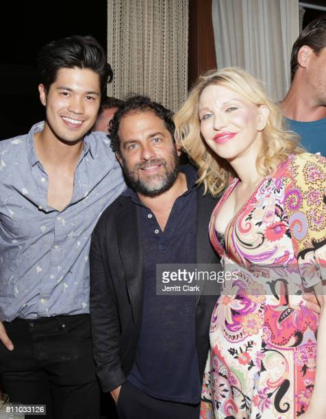 Ross Butler Brett Ratner and Courtney Love attend Scott Lipps Unviels His New Company Lipps At The Highlight Room At DREAM Hollywood at DREAM...