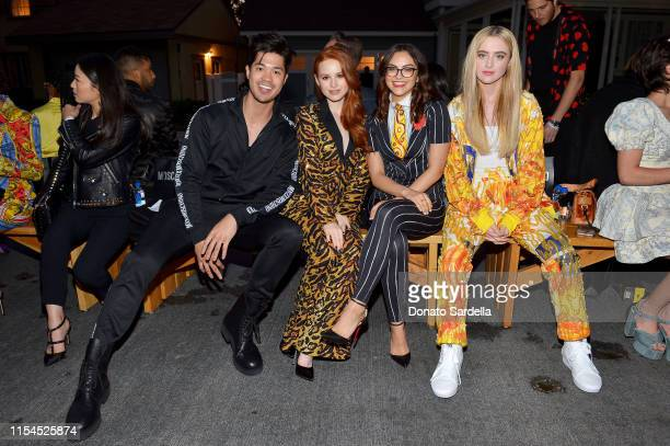 Ross Butler Madelaine Petsch Camila Mendes and Kathryn Newton attend the Moschino Spring/Summer 20 Menswear and Women's Resort Collection at...
