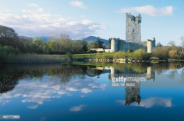 Ross castle 15th century on the shore of Lough Leane Killarney National Park County Kerry Ireland