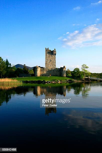 ross castle at lough leane in killarney, kerry, ireland - ring of kerry stock photos and pictures