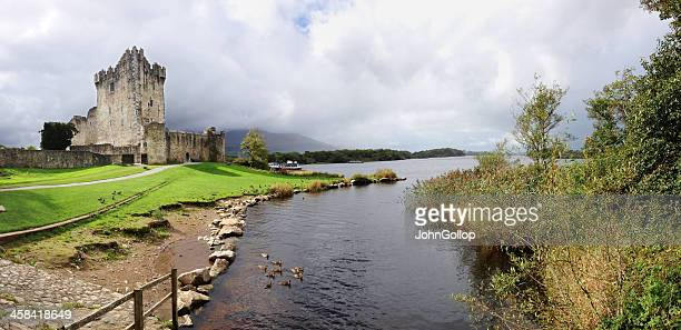ross castle - ring of kerry stock photos and pictures