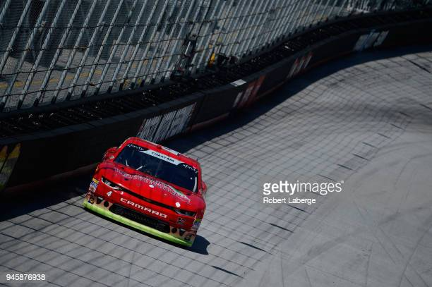 Ross Chastain driver of the Florida Watermelon Association Chevrolet drives during practice for the NASCAR Xfinity Series Fitzgerald Glider Kits 300...
