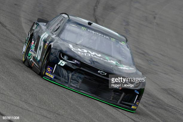Ross Chastain driver of the LowT Center Chevrolet drives during practice for the Monster Energy NASCAR Cup Series Auto Club 400 at Auto Club Speedway...