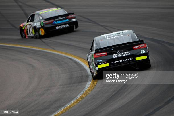 Ross Chastain driver of the LowT Center Chevrolet practices for the Monster Energy NASCAR Cup Series TicketGuardian 500 at ISM Raceway on March 10...