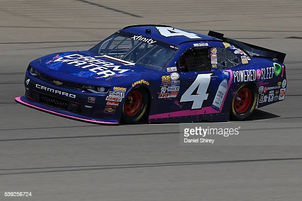 Ross Chastain driver of the teamjdmotorsportscom Chevrolet drives during practice for the NASCAR XFINITY Series Menards 250 at Michigan International...