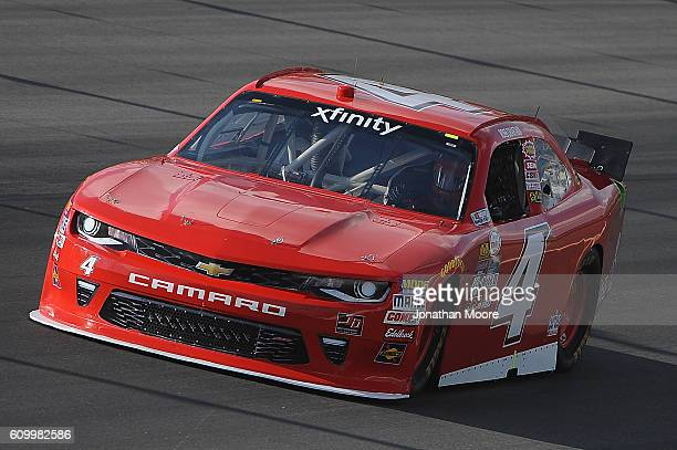 Ross Chastain driver of the teamjdmotorsportscom Chevrolet on track during practice for the NASCAR XFINITY Series VysitMyrtleBeachcom 300 at Kentucky...