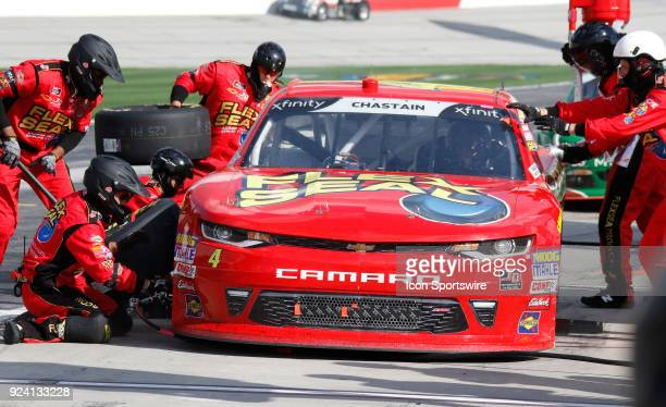 Ross Chastain JD Motorsports Flex Seal Chevrolet Camaro during the running of the 27th annual Rinnai 250 on Saturday February 24 2018 at Atlanta...