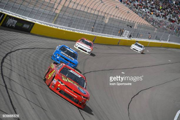 Ross Chastain Johnny Davis Chevrolet Camaro ZL1 during the Boyd Gaming 300 NASCAR Xfinity Series race on March 03 at Las Vegas Motor Speedway in Las...
