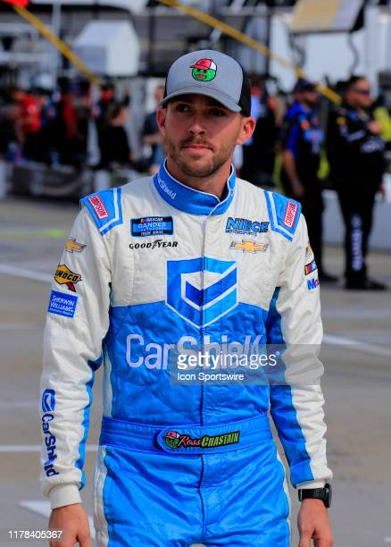 Ross Chastain Niece Motorsports Chevrolet Silverado CarShield during the running of the 21st annual NASCAR Hall of Fame 200 on October 26 2019 at...