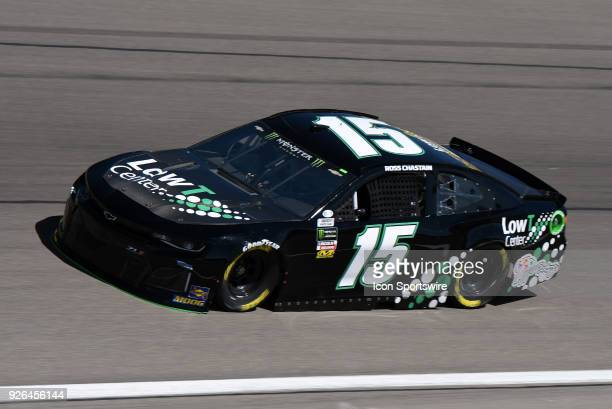Ross Chastain Premium Motorsports Chevrolet Camaro ZL1 drives through turn four during practice for the Monster Energy NASCAR Cup Series 21st Annual...