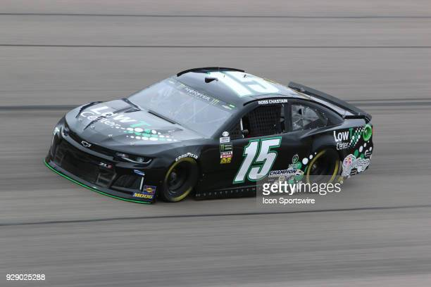 Ross Chastain Premium Motorsports Chevrolet Camaro ZL1 during final practice for the Pennzoil 400 Saturday March 3 at Las Vegas Motor Speedway in Las...